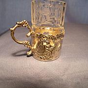 Set of 6 Simon Rosenau Crystal and Silver Cordials