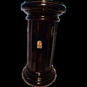 Pilgrim Mid Century Black Glass Column Vase