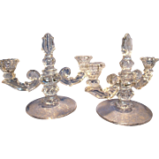 Pr. Duncan Old Sandwich 2 light candlesticks