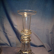 Large Pedestal Molded 18th Century Candlestick