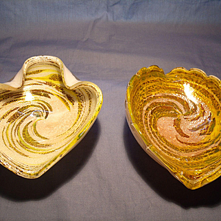 Pr Vintage Murano Bowls/Ashtrays