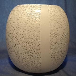 Murano White/Silver Pillow Vase