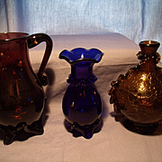 3 pieces of South Jersey Glass
