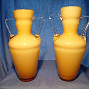 Pair of Italian Urn Vases