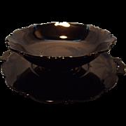 """C. 1930's Black """"Mayfair"""" Platter and Bowl"""