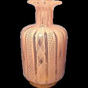 Murano Pink Latticino Vase