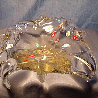 Art Nouveau Art Glass Bowl