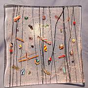 Kurt McVay Signed Glass Tray