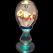 Tall Floral Pedestal Paperweight