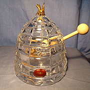 Gorham Crystal Honey Pot