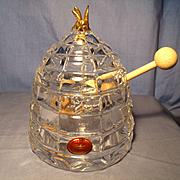 Gorham Crystal Honey Pot