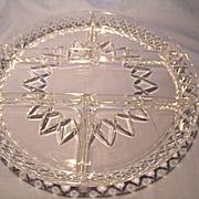 Diamond Cut Crystal Divided Tray