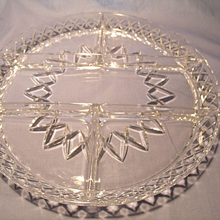 Diamond Cut Crystal Divided Tray