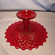 Westmoreland Ruby Glass Cake Stand