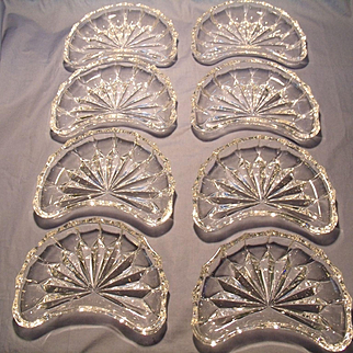 8 Crystal Salad/Side Plates