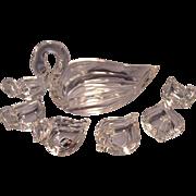 Heisey Swan Nut/ Mint Set
