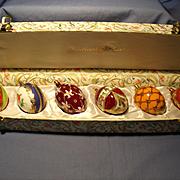 Oberfrunkische MIB Glass Egg Ornaments