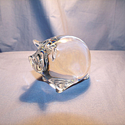Spode Crystal Pig Figurine