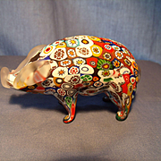 Murano Millefiore Pig