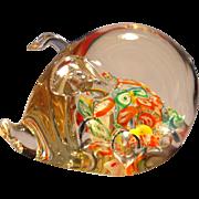 Ardalt Art Glass Pig Paperweight