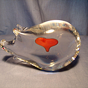 Swedish Crystal Pig Paperweight