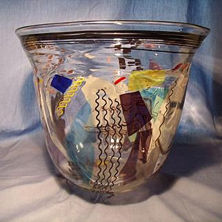Oversize Kraatz Signed Art Glass Bowl