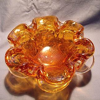 Mid Century Murano Flora Form Bowl