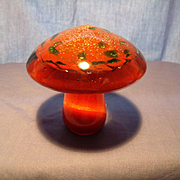 Art Glass Mushroom Paperweight