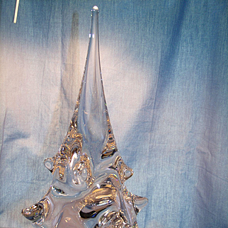 Tall Solid Crystal Art Glass Tree
