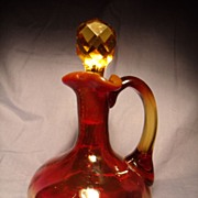 Mount Washington Rose Amber Cruet