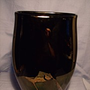 John Cook Silverscape Art Glass Vase
