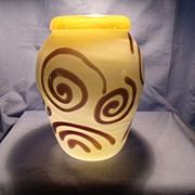 Opaline Vase With Spiral Design Vase By John Cook