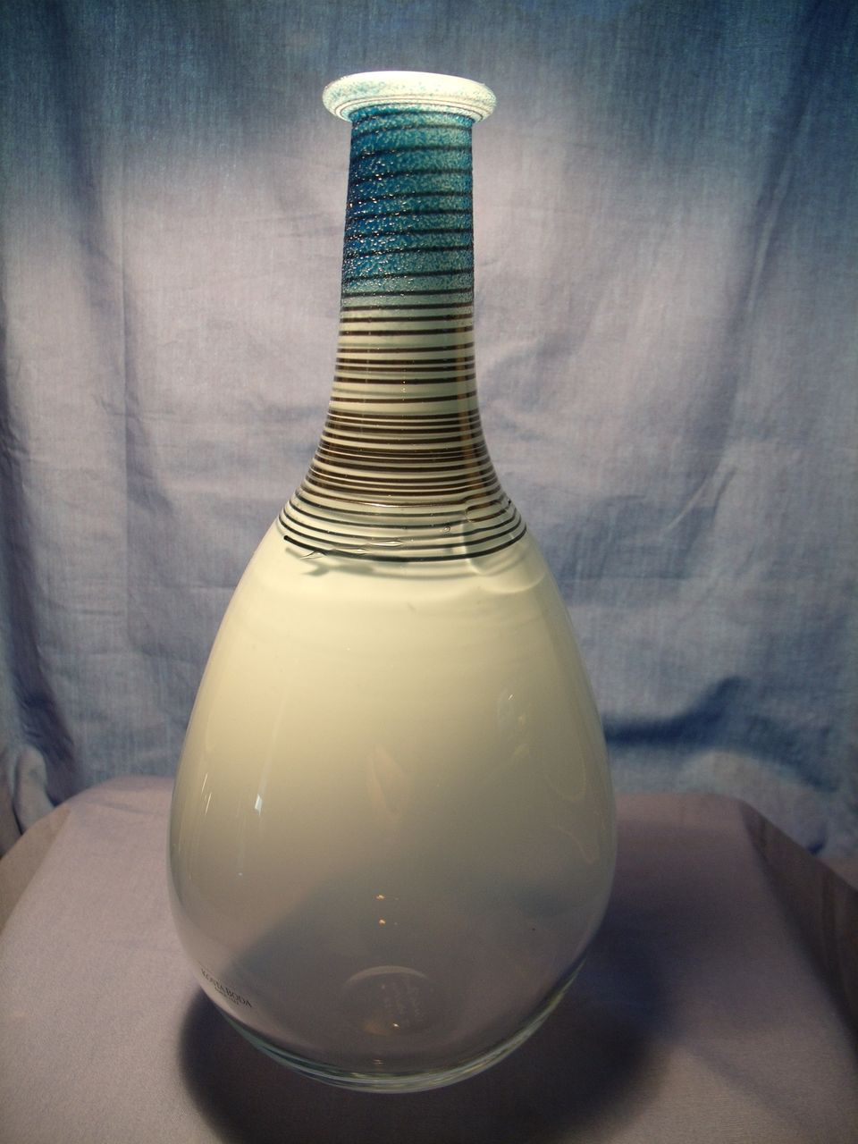 kosta boda bottle vase by bertil vallien from glassalley on ruby lane - roll over large image to magnify click large image to zoom
