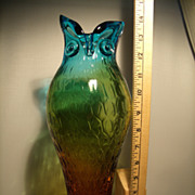 Tall Murano Figural Vase