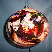 "Art  Glass 8"" Witch Ball"