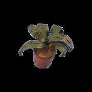 Vintage Miniature Potted Plant