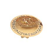 Miniature Meat Pie on elevated card plate