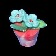 Dollhouse Flowers in Pot c 1940's