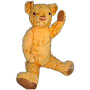 Mohair Teddy Bear with glass eyes c 1930-40's
