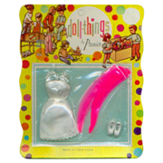 """Premier Doll Things Outfit on Original Card for 6 1/2"""" dolls"""