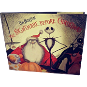 First Edition of Tim Burton's 'The Nightmare Before Christmas'.   Very Good Condition.  Inscribed.