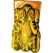 Tin Frog Party Clicker.  1930 to 40s.  3 inches long.