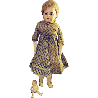 """16"""" A&M 3200.  Original Dress, Slip. Vintage Socks, Shoes."""