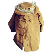 Splendid Antique Coat and Hat For A Doll--1890s-1912 era.