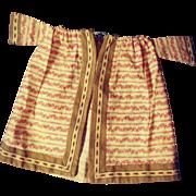 Early Doll's Dress or Robe - Wonderful Fabric.