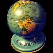 Tin Globe - 1950s