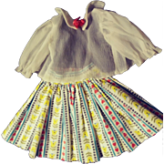 1960s Doll Blouse and Skirt