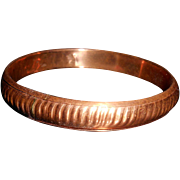 Vintage Copper Bangle Bracelet With Free Shipping