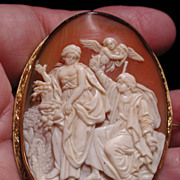 Large cameo of Perseus and Athena with Medusas head
