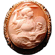 Fine cameo of Athena with her owl